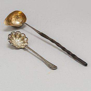 SOPPSLEV OCH STRÖSKED, silver,  1816 och 1902.
