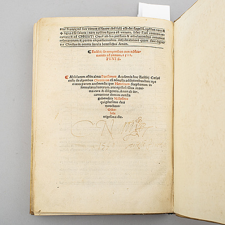 Book, gutenberg's invention of printing recorded in 1518