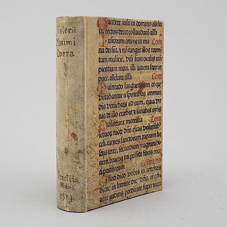 Book, second aldine edition of valerius maximus, 1514.