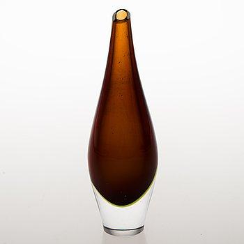 TAPIO WIRKKALA, Glass vase 3299, signed Tapio Wirkkala Iittala.
