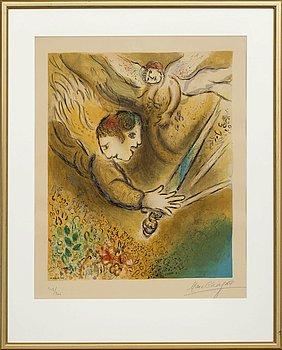 MARC CHAGALL, efter, färglitografi  av Charles Sorlier 1974, signerad med blyerts och numrerad 109/200.