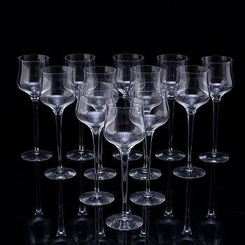 12 glasses by Nils Lagerberg, Orrefors.