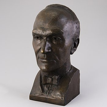 JUSSI MÄNTYNEN, skulptur, brons, signerad och daterad 1950.