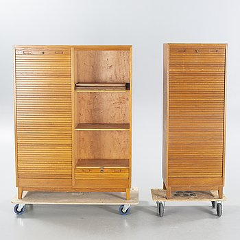 Two mid 20th century file cabinets.