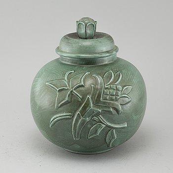 A 20th century ceramic urn, Upsala-Ekeby.