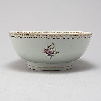 BÅLSKÅL, porslin, Kina, Qianlong (1736-1795).