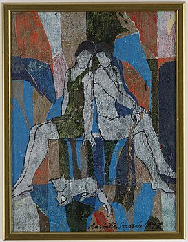 MARJATTA SARASALO, oil on canvas, signed and dated 1993.