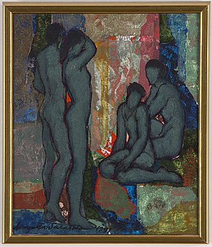 MARJATTA SARASALO, oil on canvas, signed and dated 1991.