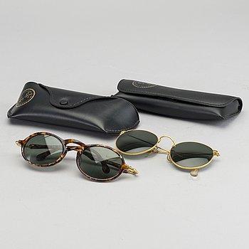 RAY-BAN, two sunglasses.