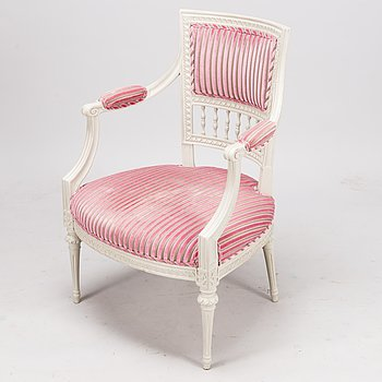 A SWEDISH GUSTAVIAN CHAIR, Stockholm, late 18th century.