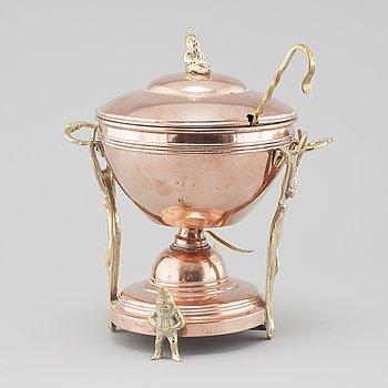 GLÖGGRYTA, koppar och mässing, tidigt 1900-tal.