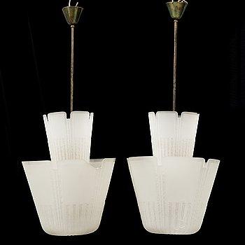 BÖHLMARKS LAMPVARUFABRIK, taklampor, ett par, Swedish Modern, omkring 1938.
