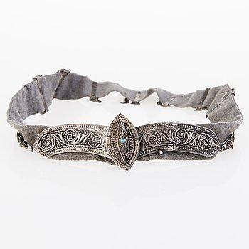 BÄLTE, silver, Kaukasien, 1900-tal.