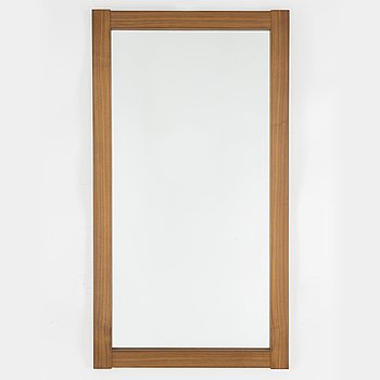 A second half of the 20th century walnyt frame mirror.