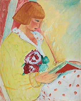 570. Sigrid Hjertén, Portrait depicting Ida la Cour, born Enna.
