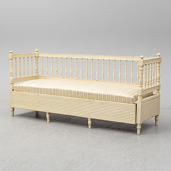 A late Gustavian sofa from around year 1800.