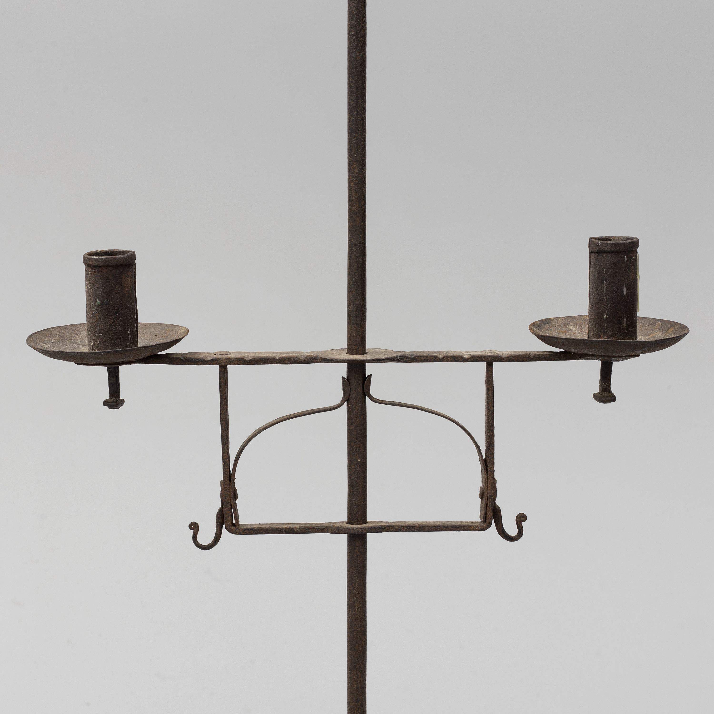 An 18th Century Iron Floor Candle Holder Bukowskis