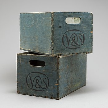TRÄLÅDOR, två st, Vin & Sprit, 1900-tal.