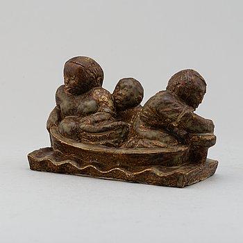MICHAEL SCHILKIN, skulptur, stengods, stämpelsignerad, Arabia, Finland.