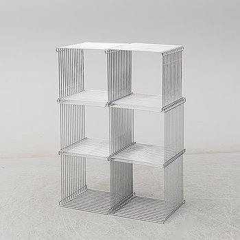 """VERNER PANTON, """"Wire cube"""", 6 st, ur serien Pantonova, för Fritz Hansen."""