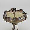 Josef rindskopf & sÖhne, a glass bowl on metal stand.