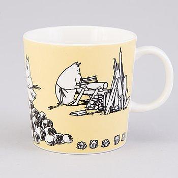 MOOMIN-MUG, porcelain, 'Mug yellow', Moomin Characters, Arabia 1990-1996.