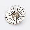 """Georg jensen, brosch, """"daisy"""", sterling silver och emalj,  längd ca 3 cm."""