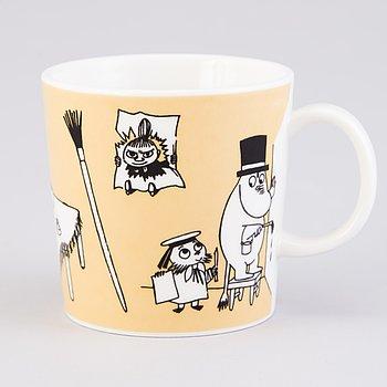 MOOMIN-MUG, porcelain, 'Office', Moomin Characters, Arabia 1996-2002.