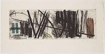 HANS HARTUNG, etching with acquatint, signed.