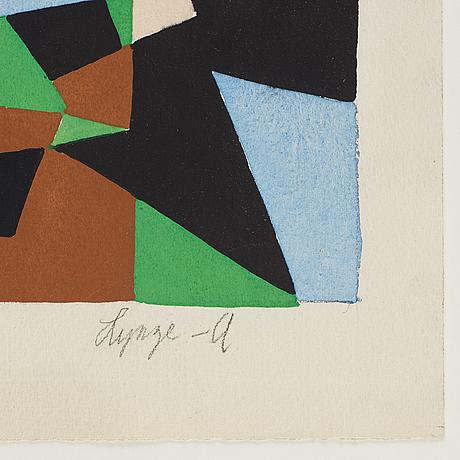 Einar lynge-ahlberg, akvarell, signerad.