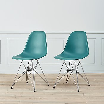A pair of 'DSR' chairs by Charles & Ray Eames, Vitra.