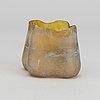 Je schenckendorf, ascribed a handpainted glass vase