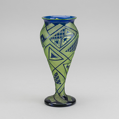 Loetz, an art deco 1920's cut glass vase