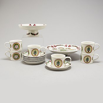 a 8 part porcelain service designed by Susan Williams-Ellis Portmeirion 1983.