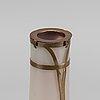 """Riedel & rindskopf, a """"aventurine"""" glass and copper vase"""