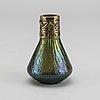 Wilhelm kralik sohne, a diasfora glass and metal vase.