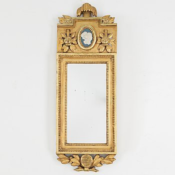 MIRROR, gustavian style, first half of the 20th century.