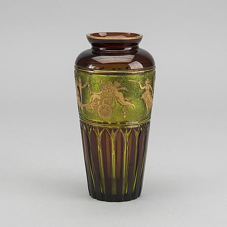 Leon ledru, a cortège des musiciens cameo glass vase for val st lambert around 1900 1910