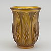 Val st lambert, a moulded glass vase around 1925.
