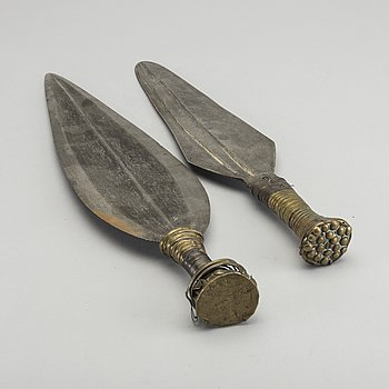 KNIVAR, 2 st, Afrika, 1900-tal.