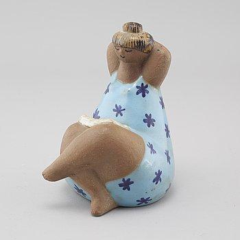 "LISA LARSON, a stoneware figurine called ""Emma"" for Gustavsberg."