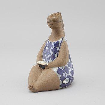 "LISA LARSON, a stoneware figurine called ""Amalia"", for Gustavsberg (produced during 1958-1973)."