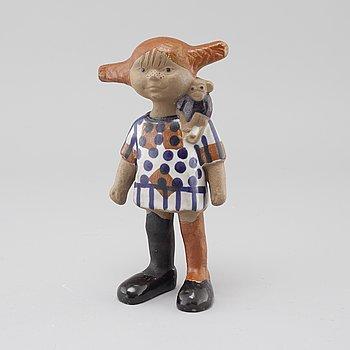 "LISA LARSON, a stoneware figurine called ""Pippi Långstrump"" for Gustavsberg."