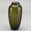 Theodore legras, a signed etched glass vase around 1920