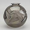Henri dieupart, a moudled glass vase for simonet frères 1920's