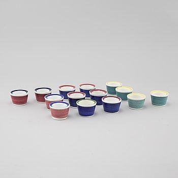 "MARIANNE WESTMAN, 14 egg cups, ""Picknick"", Rörstrand."