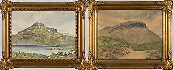 EINARI JUNTTILA, akvareller, 2 st, signerade och daterad -48.