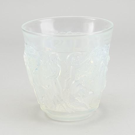Sabino, an art deco moulded glass vase signed.