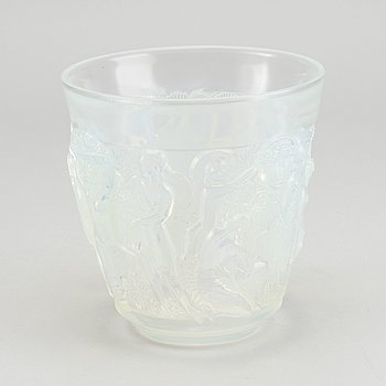 SABINO, an Art Deco moulded glass vase signed.