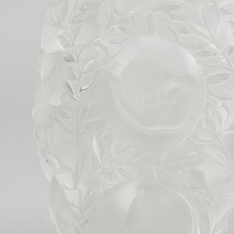 RenÉ lalique, a signed bagaelle vase.